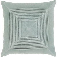 Surya Akira Silver Textured Stripe Squares Throw Pillow AKA001