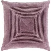 Surya Akira Purple Textured Stripe Squares Throw Pillow AKA002