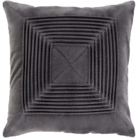 Surya Akira Black Textured Stripe Squares Throw Pillow AKA004