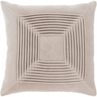 Surya Akira Beige Textured Stripe Squares Throw Pillow AKA006
