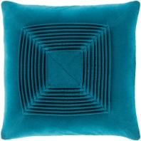 Surya Akira Green Textured Stripe Squares Throw Pillow AKA007