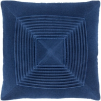 Surya Akira Blue Textured Stripe Squares Throw Pillow AKA008