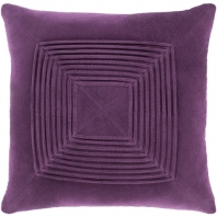Surya Akira Purple Textured Stripe Squares Throw Pillow AKA009