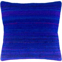 Surya Palu Blue Eclectic Throw Pillow ALU001