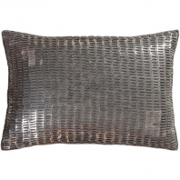 Surya Ankara Silver Metallic Shag Throw Pillow ANK001
