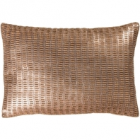 Surya Ankara Gold Metallic Shag Throw Pillow ANK002