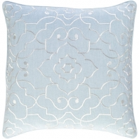 Surya Adagio Gray Damask Throw Pillow AO002
