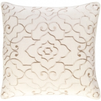 Surya Adagio Beige Damask Throw Pillow AO003