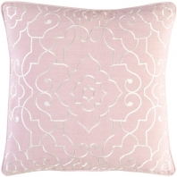 Surya Adagio Pink Damask Throw Pillow AO004