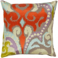 Surya Ara Orange Throw Pillow AR073