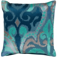 Surya Ara Blue Throw Pillow AR075