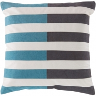 Surya Oxford Black Stripe Throw Pillow AR134