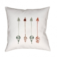 Surya Arrows White Arrows Scandinavian Throw Pillow ARW001