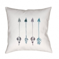 Surya Arrows White Arrows Scandinavian Throw Pillow ARW002