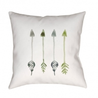 Surya Arrows White Arrows Scandinavian Throw Pillow ARW004