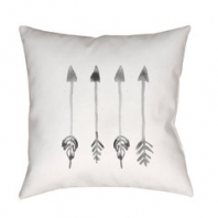 Surya Arrows White Arrows Scandinavian Throw Pillow ARW005