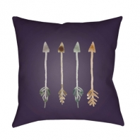 Surya Arrows Purple Arrows Scandinavian Throw Pillow ARW007