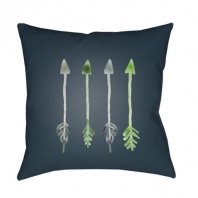 Surya Arrows Green Arrows Scandinavian Throw Pillow ARW008