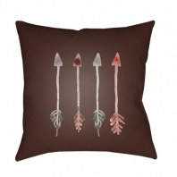 Surya Arrows Brown Arrows Scandinavian Throw Pillow ARW009