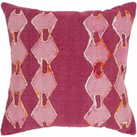 Surya Panta Purple Tribal Scandinavian Throw Pillow ATA001