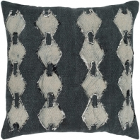 Surya Panta Black Tribal Scandinavian Throw Pillow ATA003