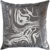 Surya Crescent Gray Abstract Mid-Century Throw Pillow CSC009