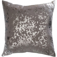 Surya Crescent Gray Abstract Mid-Century Throw Pillow CSC011