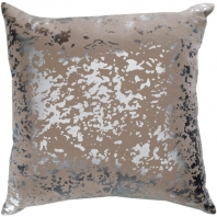 Surya Crescent Beige Abstract Mid-Century Throw Pillow CSC012