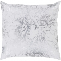 Surya Crescent White Nature Throw Pillow CSC013