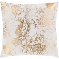 Surya Crescent White Abstract Throw Pillow CSC014