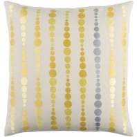 Surya Dewdrop Beige Geometric Mid-Century Throw Pillow DE002