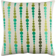 Surya Dewdrop Beige Geometric Mid-Century Throw Pillow DE003