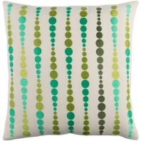 Surya Dewdrop Beige Geometric Mid-Century Throw Pillow DE003