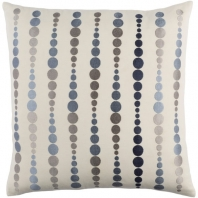 Surya Dewdrop Beige Geometric Mid-Century Throw Pillow DE004