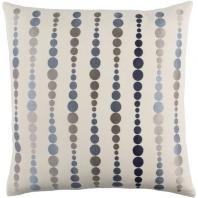 Surya Dewdrop Beige Geometric Mid-Century Throw Pillow DE004