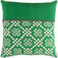 Surya Delray Green Scandinavian Throw Pillow DEA001