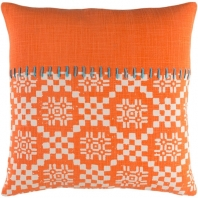 Surya Delray Orange Scandinavian Throw Pillow DEA002