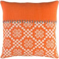 Surya Delray Orange Scandinavian Throw Pillow DEA002