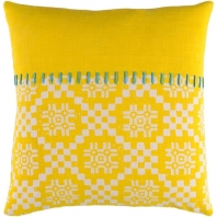 Surya Delray Yellow Scandinavian Throw Pillow DEA003