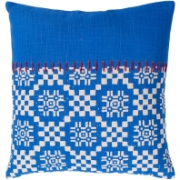 Surya Delray Blue Scandinavian Throw Pillow DEA004