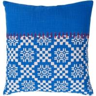 Surya Delray Blue Scandinavian Throw Pillow DEA004