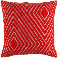 Surya Denmark Orange Geometric Mid-Century Throw Pillow DMR002