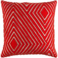 Surya Denmark Orange Geometric Mid-Century Throw Pillow DMR002