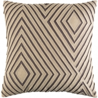 Surya Denmark Gray Geometric Mid-Century Throw Pillow DMR003