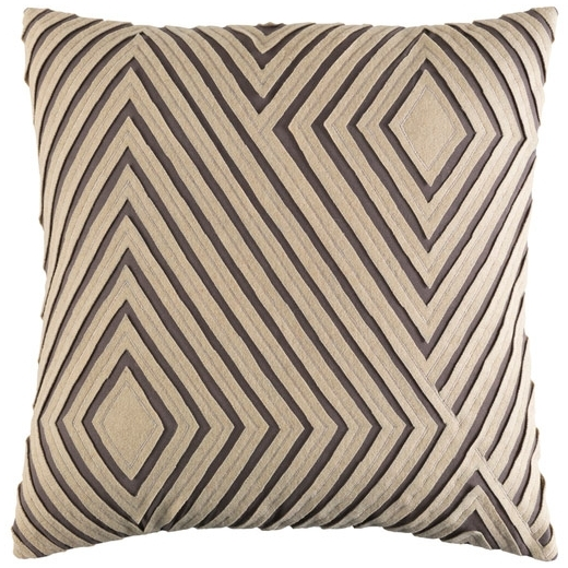 Gray Geometric Mid Century Throw Pillow