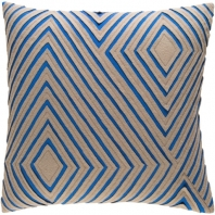 Surya Denmark Blue Geometric Mid-Century Throw Pillow DMR004
