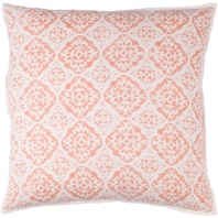 Surya D'orsay Pink Medallions and Damask Throw Pillow DOR001