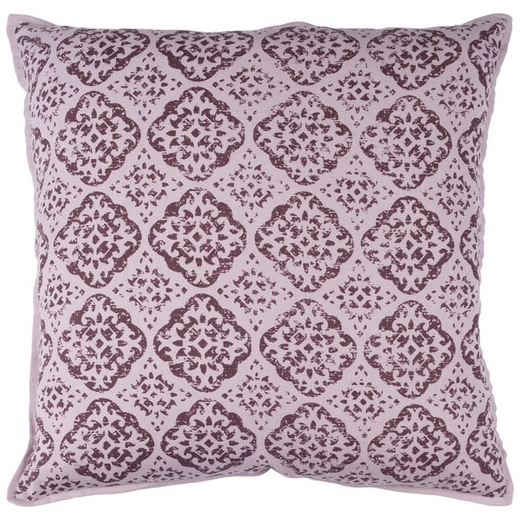 Surya D'orsay Purple Medallions and Damask Throw Pillow DOR002