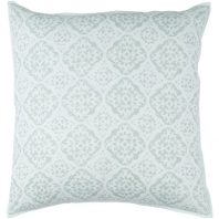 Surya D'orsay Green Medallions and Damask Throw Pillow DOR003