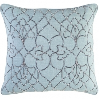 Surya Dotted Pirouette Blue Dotted Arabesque Shag Throw Pillow DP001